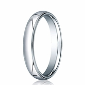 Benchmark 4mm Palladium Comfort Fit Ring with Milgrain