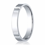 Benchmark 4mm Platinum Flat Comfort Fit Wedding Band