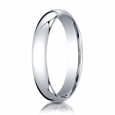 Benchmark 4mm Platinum Super Light Comfort Fit Ring
