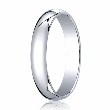 Benchmark 4mm Platinum Traditional Wedding Band