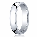 Benchmark 5.5mm 18K White Gold Euro Comfort Fit?Wedding Band