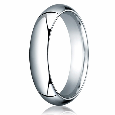 Benchmark 5mm 14K White Gold Heavy Comfort Fit Wedding Band