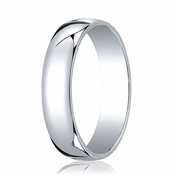 Benchmark 5mm 14K White Gold Low Dome Wedding Band