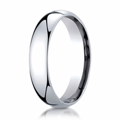 Benchmark 5mm 14K White Gold Super Light Comfort Fit Ring
