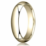 Benchmark 5mm 14K Yellow Gold Heavy Comfort Fit Wedding Band
