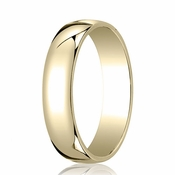 Benchmark 5mm 14K Yellow Gold Low Dome Wedding Band