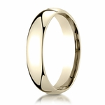 Benchmark 5mm 14K Yellow Gold Super Light Comfort Fit Ring
