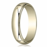 Benchmark 5mm 14K Yellow Gold Wedding Band with Milgrain