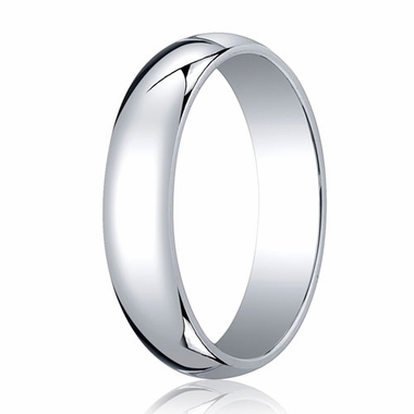 Benchmark 5mm 18K White Gold Traditional Wedding Band