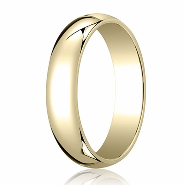 Benchmark 5mm 18K Yellow Gold Traditional Wedding Band