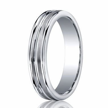 Benchmark 5mm ARGO Silver Comfort Fit Ring with Double Groove