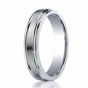 Benchmark 5mm ARGO Silver Comfort Fit Ring with Polished Edges