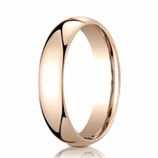 Benchmark 5mm Dome 14K Rose Gold Standard Comfort Fit Band