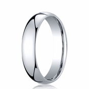 Benchmark 5mm Dome 14K White Gold Standard Comfort Fit Band