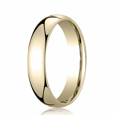 Benchmark 5mm Dome 14K Yellow Gold Standard Comfort Fit Band