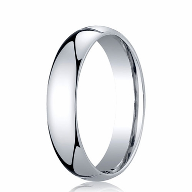 Benchmark 5mm Dome 18K White Gold Standard Comfort Fit Band