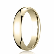 Benchmark 5mm Dome 18K Yellow Gold Standard Comfort Fit Band