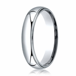 Benchmark 5mm Platinum Super Light Comfort Fit Ring with Milgrain