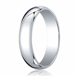 Benchmark 5mm Platinum Traditional Wedding Band