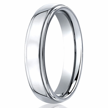 Benchmark 5mm Round Cobalt Chrome Ring with Step Edges