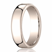 Benchmark 6.5mm 14K Rose Gold Euro Comfort Fit?Wedding Band