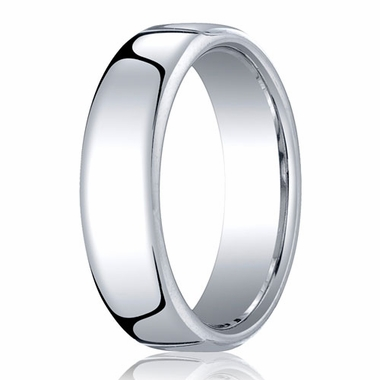 Benchmark 6.5mm 18K White Gold Euro Comfort Fit?Wedding Band