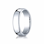 Benchmark 6.5mm Classic Flat Comfort-Fit Cobalt Chrome Ring