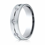 Benchmark 6mm 14K White Gold 8-Stone Eternity Diamond Ring with Center Trim