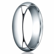 Benchmark 6mm 14K White Gold Heavy Comfort Fit Wedding Band