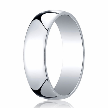 Benchmark 6mm 14K White Gold Low Dome Wedding Band