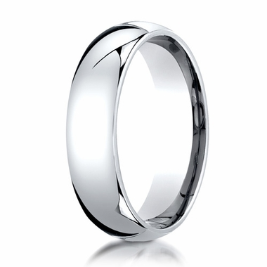 Benchmark 6mm 14K White Gold Super Light Comfort Fit Ring