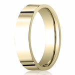 Benchmark 6mm 14K Yellow Gold Flat Comfort Fit Wedding Band