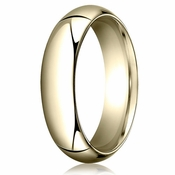 Benchmark 6mm 14K Yellow Gold Heavy Comfort Fit Wedding Band