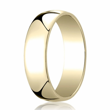Benchmark 6mm 14K Yellow Gold Low Dome Wedding Band
