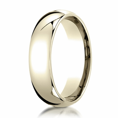 Benchmark 6mm 14K Yellow Gold Super Light Comfort Fit Ring