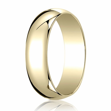Benchmark 6mm 14K Yellow Gold Traditional Wedding Band