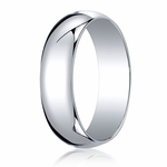 Benchmark 6mm 18K White Gold Traditional Wedding Band