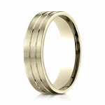 Benchmark 6mm 18K Yellow Gold Ring with Center Trims