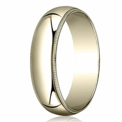 Benchmark 6mm 18K Yellow Gold Wedding Band with Milgrain