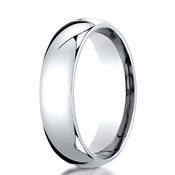 Benchmark 6mm Dome 14K White Gold Wedding Band
