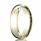 Benchmark 6mm Dome Shaped 14K Yellow Gold Band