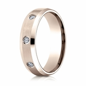 Benchmark 6mm Dual Finish 14K Rose Gold 8-Stone Eternity Diamond Ring