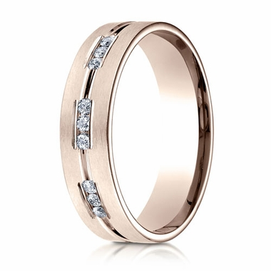 Benchmark 6mm Dual Finish 14K Rose Gold 9-Stone Eternity Diamond Ring