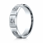 Benchmark 6mm Dual Finish 14K White Gold 6-Stone Eternity Diamond Ring