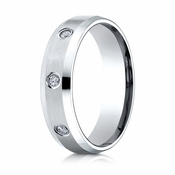Benchmark 6mm Dual Finish 14K White Gold 8-Stone Eternity Diamond Ring