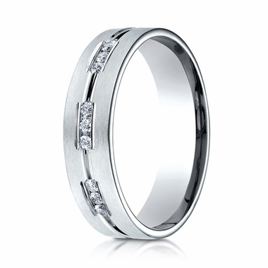 Benchmark 6mm Dual Finish 14K White Gold 9-Stone Eternity Diamond Ring