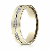 Benchmark 6mm Dual Finish 14K Yellow Gold 18-Stone Eternity Diamond Ring