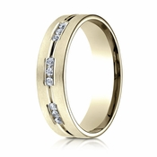 Benchmark 6mm Dual Finish 14K Yellow Gold 9-Stone Eternity Diamond Ring