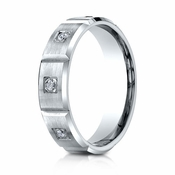Benchmark 6mm Dual Finish 18K White Gold 6-Stone Eternity Diamond Ring