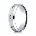 Benchmark 6mm Dual Finish 18K White Gold 8-Stone Eternity Diamond Ring